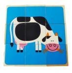 Würfelpuzzle Bauernhoftiere