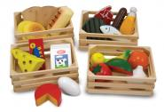 Lebensmittel - Set aus Holz