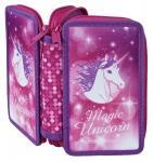 Schüleretui Magical Unicorn Doppeldecker gefüllt