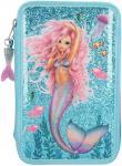 Fantasy Model Etui 3-fach, gefüllt Mermaid blau
