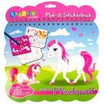 Mal- und Stickerbuch Pferde