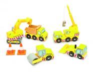 """Baufahrzeuge Set """"Construction Set"""" aus Holz"""