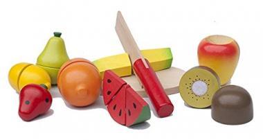 Obst schneiden - Set aus Holz