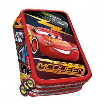 """Etui 3-fach Cars """"Race"""" gefüllt, 3D-Optik"""