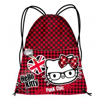 "Turnbeutel ""Hello Kitty"" Punk Chic"