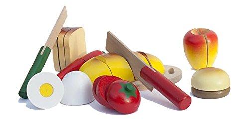 Essen schneiden - Set aus Holz