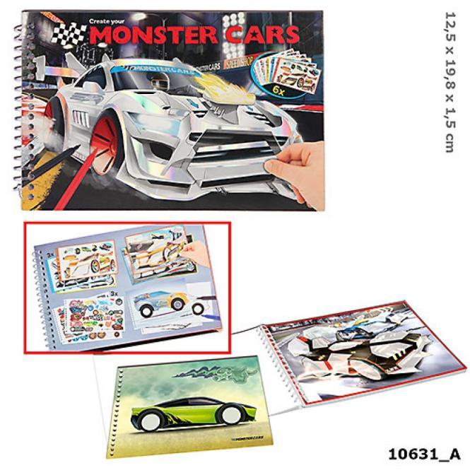 Monster Cars Pocket Malbuch