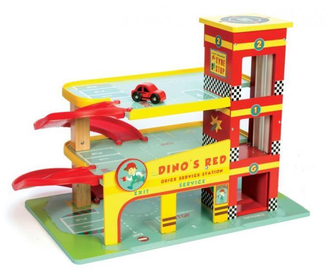 Spielzeug Amp Mehr Parkhaus Dino S Garage Aus Holz