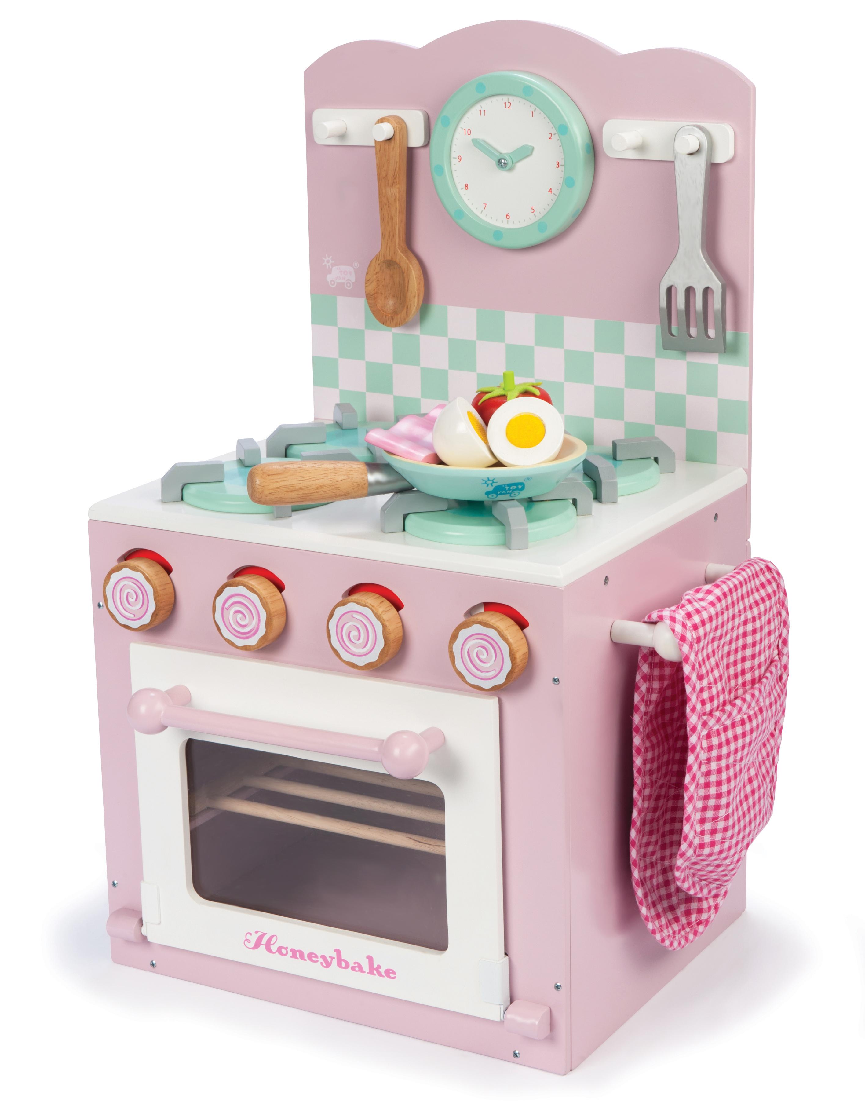 spielzeug mehr spielk che aus holz ofen und herd set pink. Black Bedroom Furniture Sets. Home Design Ideas